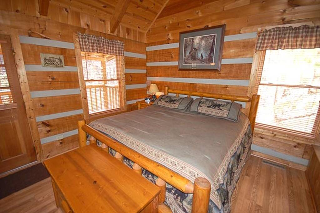 Enjoy the King Size Log Bed