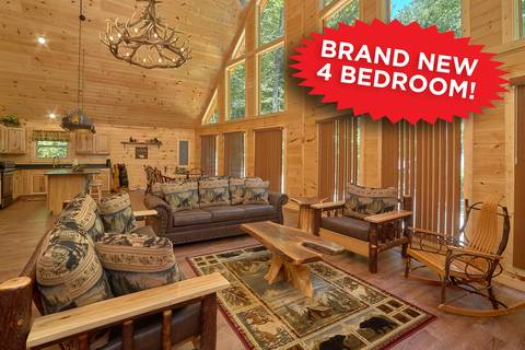 HEMLOCK HIDEAWAY LODGE 4 Bedroom Cabin Rental