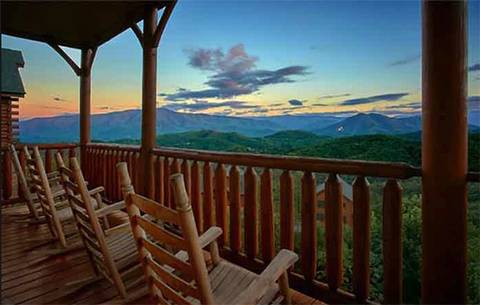 MOONLIT MOUNTAIN TOP (MTN TOP VIEW TOO) 2 Bedroom Cabin Rental