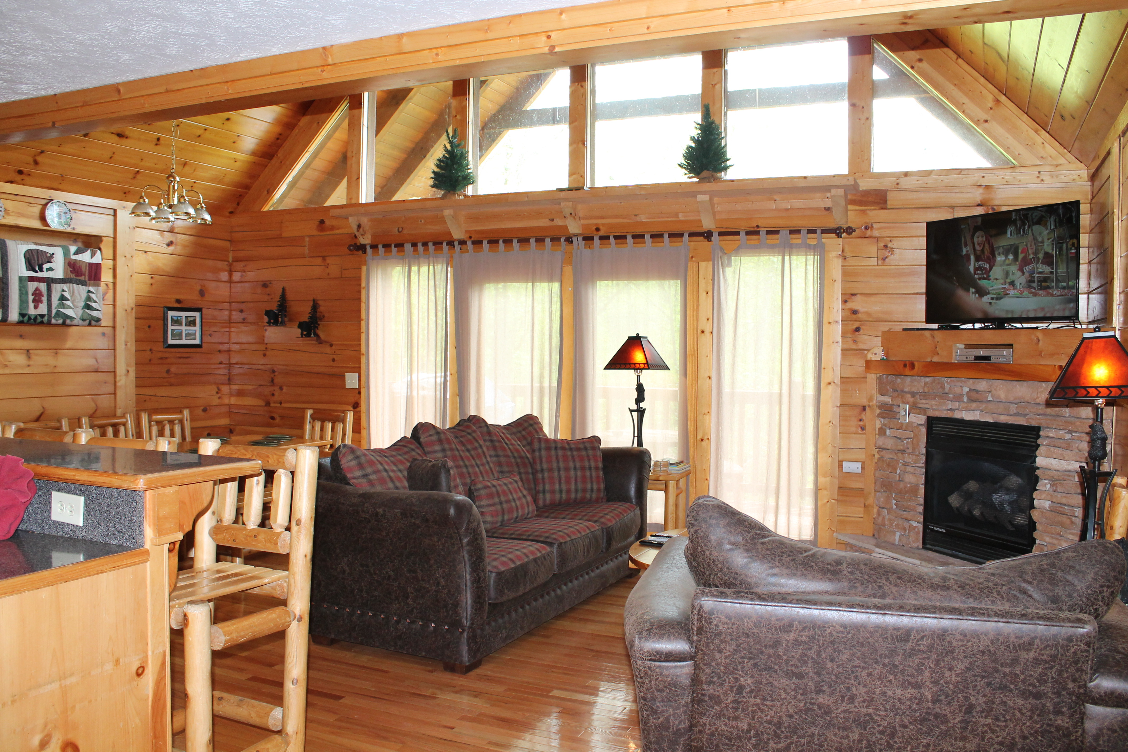 cabins forge rental dream pigeon cabin true come bedroom at