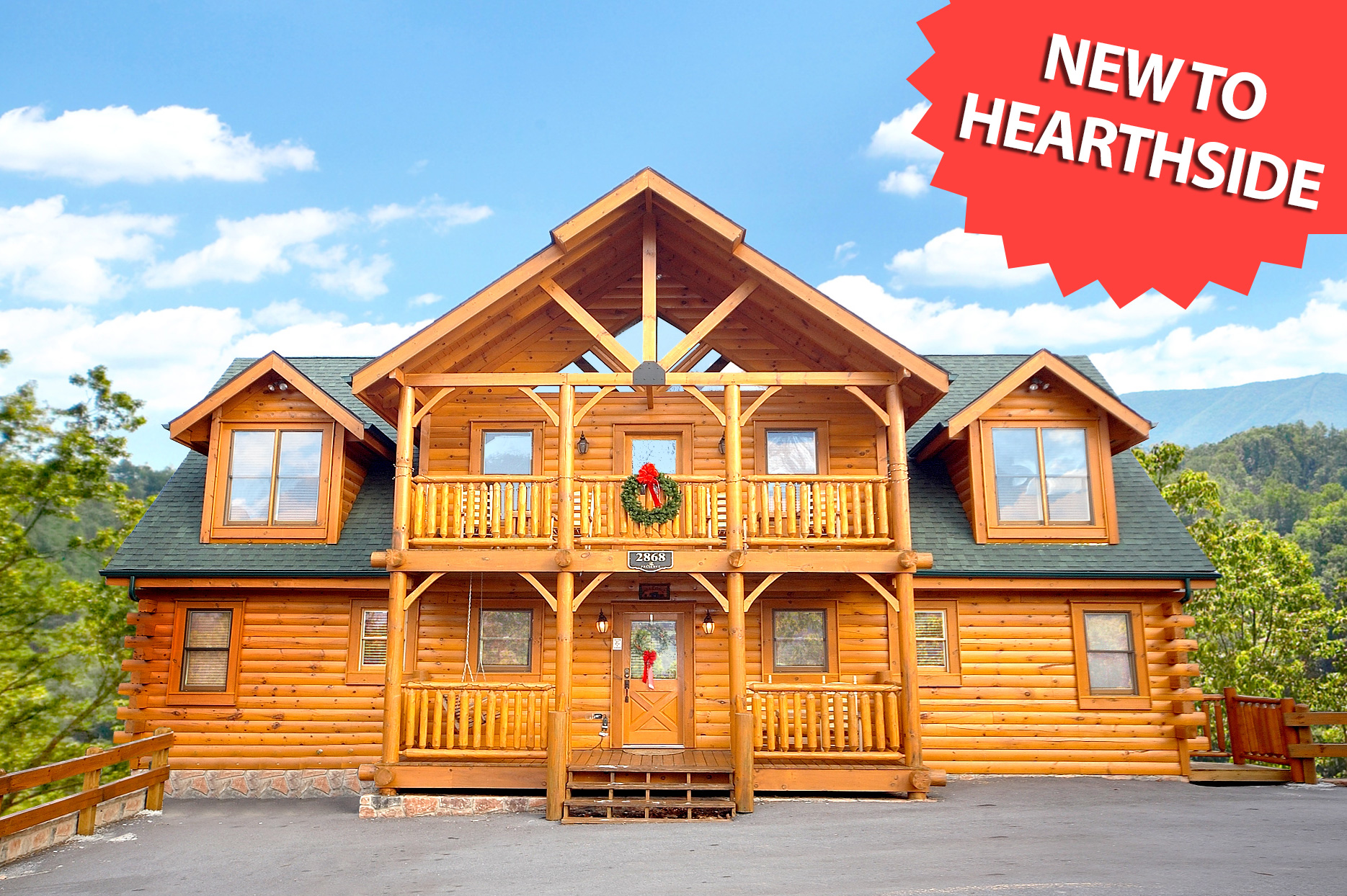 5 bedroom sleeps 16 bear trail lodge by large cabin rentals for Lodge plans with 8 bedrooms