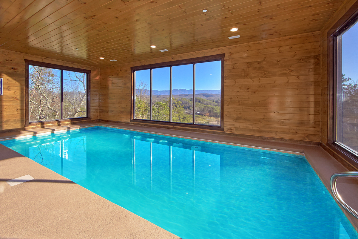 family cabins gatlinburg with indoor poo in vrbo vacation cabin pool ultimate