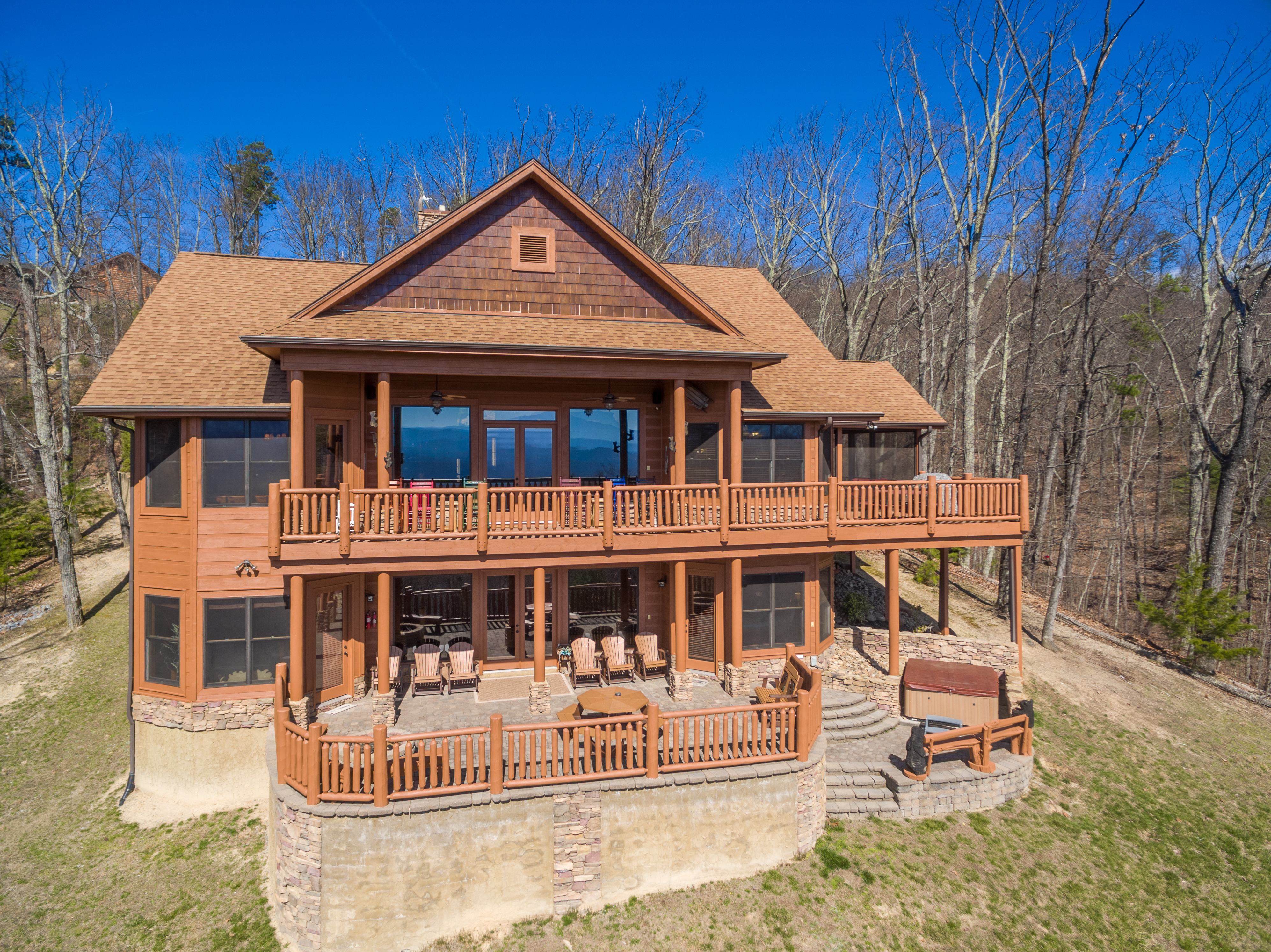 mountain cabin rentals by adirondacks five large lodge bears view rental cabins