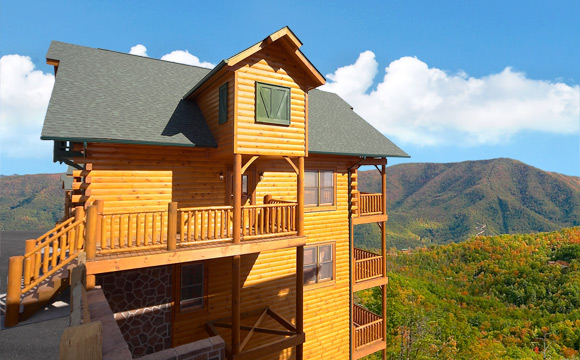 CADES COVE CASTLE BEDROOM Cabin Located In Sevierville - 7 bedroom cabins in gatlinburg tn