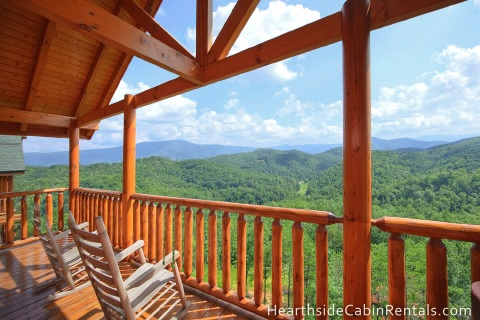 view of the Smoky Mountains from a cabin