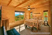 A View for All Seasons cabin near Gatlinburg king bedroom with mountain view