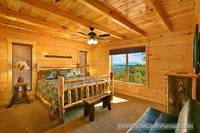 Cozy king bedroom in cabin near Gatlinburg A View For All Seasons