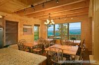 Dining room overlooking the mountains at A View For All Seasons cabin near Gatlinburg