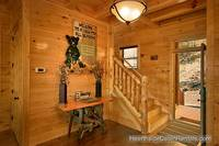 Inviting entranceway at A View For All Seasons cabin near Gatlinburg