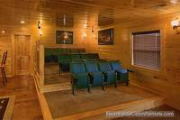 Theater-style seating for movie theater in cabin near Gatlinburg A View For All Seasons