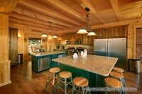 Large eat-in kitchen at Amazing View Manor cabin in Pigeon Forge