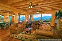 A Grand View Lodge cabin in Pigeon Forge with open floor plan