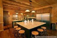 Double kitchen and dining area at A Grand View Lodge cabin in Pigeon Forge