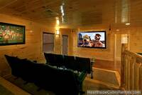 Grand View Lodge cabin in Pigeon Forge with home theater system