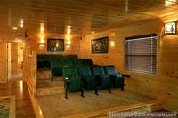 Grand View Lodge cabin in Pigeon Forge with movie theater room