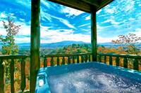Grand View Lodge Pigeon Forge cabin with mountain view and outdoor hot tub