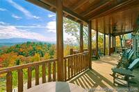 Open-air private deck at Grand View Lodge cabin in Pigeon Forge