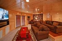 Large movie theater room in a Pigeon Forge cabin