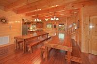 family-style dining room at Morning View Manor cabin in Wears Valley