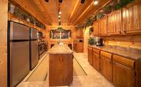 Large double kitchen at Majestic View Lodge cabin near Pigeon Forge and Gatlinburg