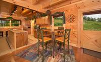 Dining area at Majestic View Lodge cabin near Pigeon Forge and Gatlinburg