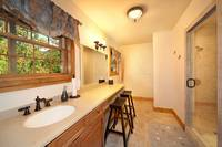 Changing room and family bathroom at The Preserve Resort in Pigeon Forge