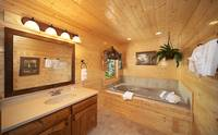 Large Pigeon Forge cabin rental with jacuzzi tub