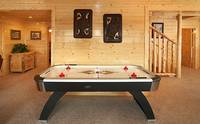 Cades Cove Castle 8 bedroom Pigeon Forge cabin with air hockey table