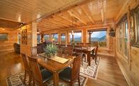Spacious living room inside large Pigeon Forge cabin rental.