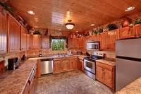 Large kitchen area at Heavenly Heights 8 bedroom large Pigeon Forge cabin rental