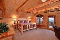 King size suite with private deck at Heavenly Heights 8 bedroom cabin rental in Pigeon Forge