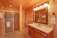 Master bath suite at Heavenly Heights 8 bedroom large Pigeon Forge cabin rental