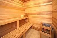 Sauna room at The Preserve Resort