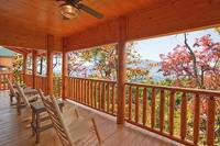 Smoky Mountain view from Dream View Manor cabin in Pigeon Forge