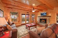 Large Pigeon Forge cabin rentals with movie theater room