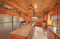Large double kitchen inside the 12 bedroom Pigeon Forge cabin Dream View Manor