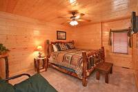 Spacious queen size bed in Dream View Manor cabin in Pigeon Forge