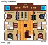 Floor plan of first floor of Amazing View Manor cabin in Pigeon Forge