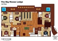 Layout of the first level of The Big Moose Lodge
