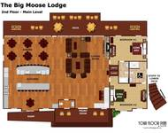 Layout of the second level of The Big Moose Lodge