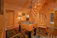 13 bedroom large Pigeon Forge cabin with foosball table