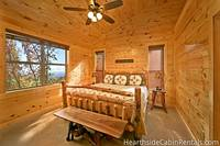 Private king-size bedroom with mountain view at Majestic View Lodge