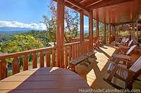 Covered back deck at Majestic View Lodge 13 bedroom cabin in Pigeon Forge
