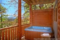 Second outdoor hot tub at Majestic View Lodge