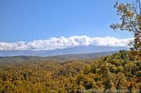 Scenic Smoky Mountain view from Majestic View Lodge cabin in Pigeon Forge