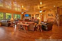 Entire view of living room at The Big Moose Lodge
