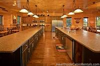 Large double kitchen at The Big Moose Lodge cabin in Pigeon Forge