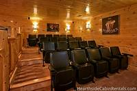 20 person home theater room in Pigeon Forge cabin