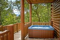 Large outdoor hot tub at the 16 bedroom cabin in Pigeon Forge