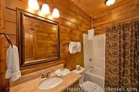 Eight bedroom cabin in Pigeon Forge, each with private bath.